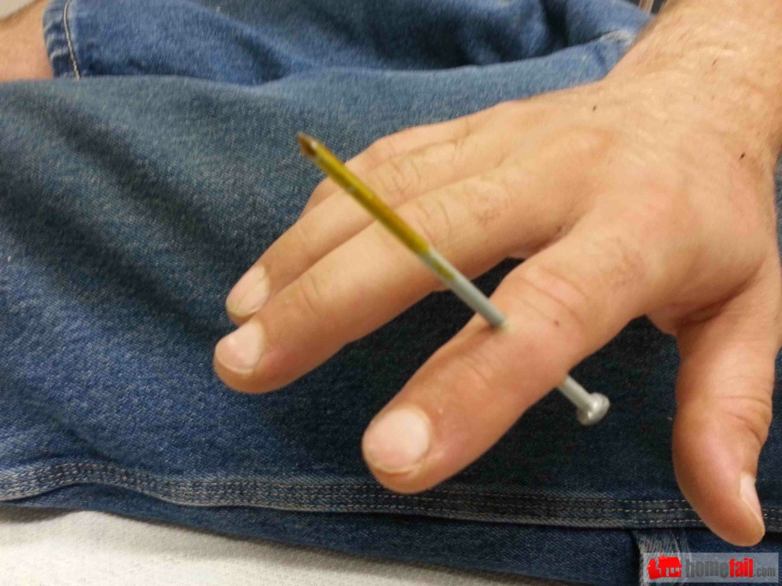 Nail Gun Safety - Accident Photo